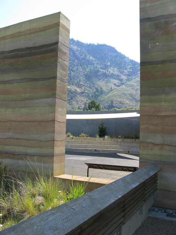 Nk'Mip Cultural Centre rammed earth wall