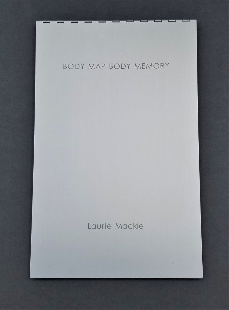 Cover of Artist's Book project titled Body Map Body Memory